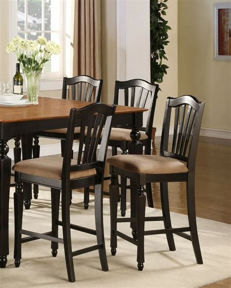 Kitchen Counter Chairs by Set Of 4 Kitchen Counter Height Chairs With Microfiber