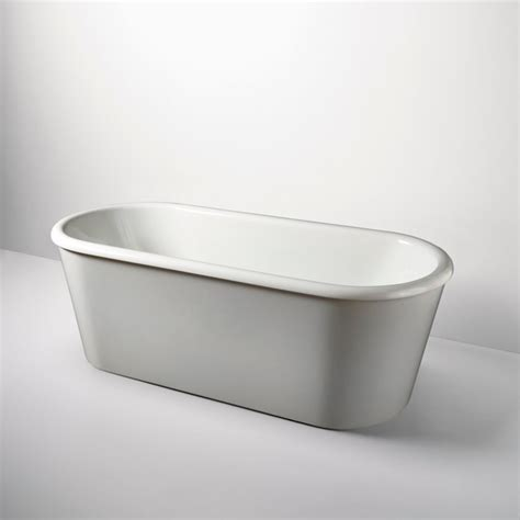 Composite Bathtubs by Colette Freestanding Oval Composite Bathtub Modern