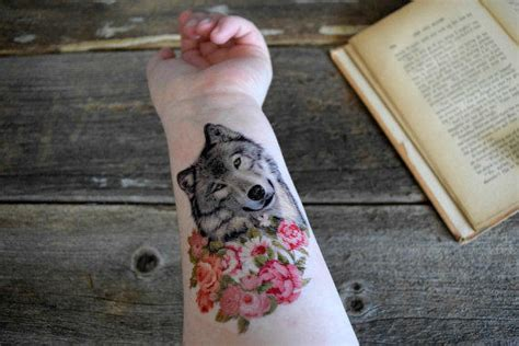 henna tattoo hot springs arkansas wolf temporary tattoo colorful floral from siideways