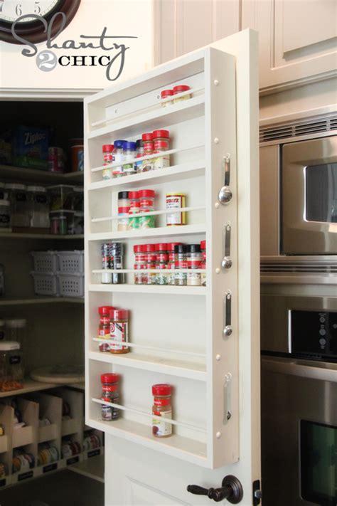 pantry ideas diy door spice rack shanty  chic