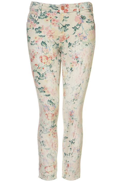 topshop patterned jeans six of the best floral patterned jeans