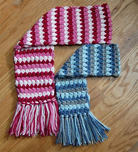 crochet pattern mod scarf 3 sizes toddler child
