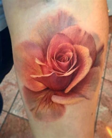 tattoo shops in denton color realistic flower by deanna smith at