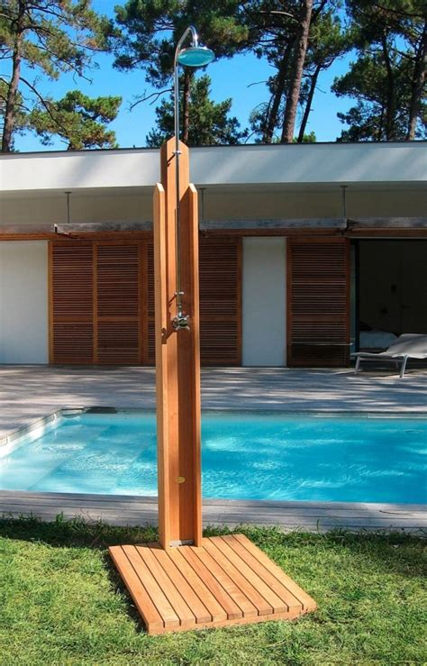 outdoor teak shower 20 refreshing luxurious outdoor showers 183 dwelling decor