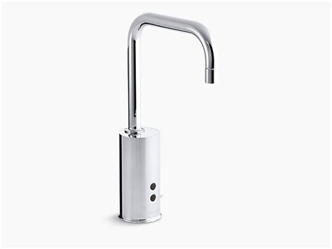 kohler sensate ac powered touchless kitchen faucet in gooseneck single hole touchless ac powered commercial