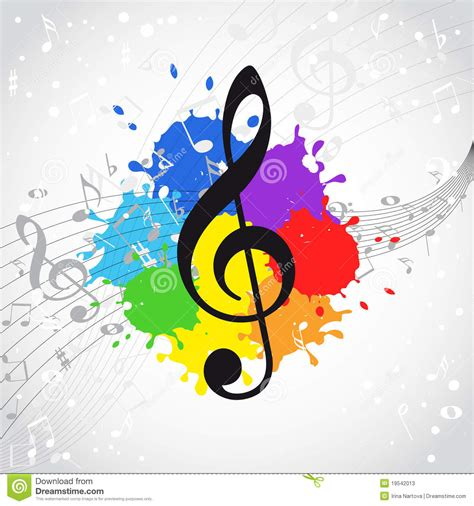 clipart musicali color background stock vector illustration of image