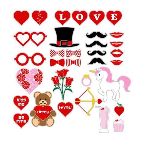 booth design for valentines valentine s day photo props cuttable design
