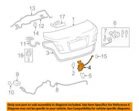 2007 Toyota Camry Trunk Latch Toyota Oem 07 11 Camry Trunk Lock Or Actuator Latch