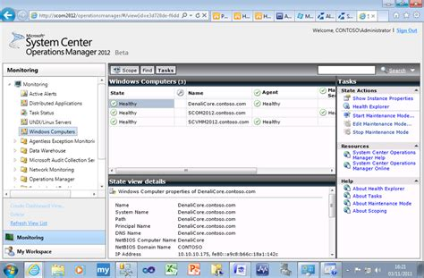 console log data getting started with scom 2012 beta insufficient data