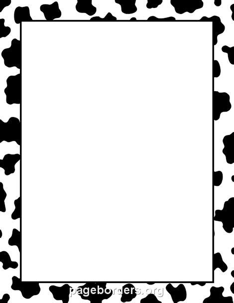 cow pattern frame cow print border backgrounds pinterest cow print