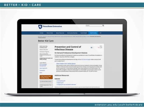 Psu Healthcare Mba Requirements by Penn State Better Kid Care Health And Safety Room Kid