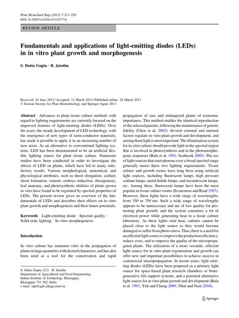 light emitting diodes plant growth fundamentals and applications of light emitting diodes leds in in vitro plant growth and