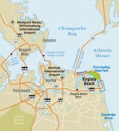 beaches map map of virginia va virginia vacation guide