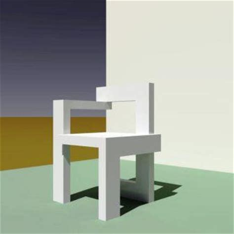 sedia rietveld arte architettura steltman chair arch g t rietveld
