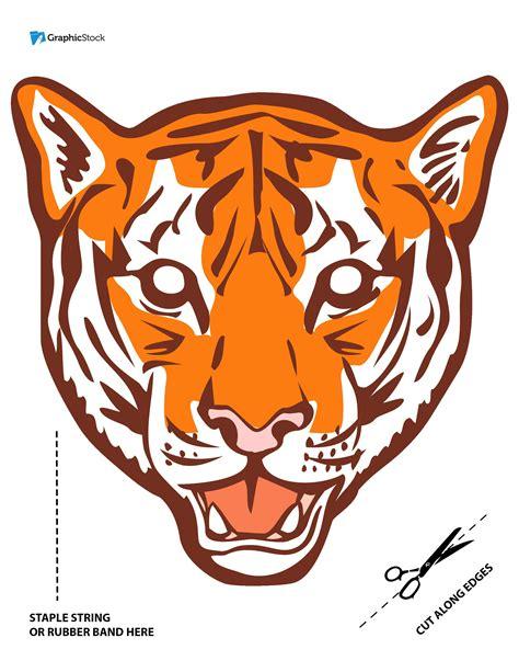 printable tiger mask template printable halloween masks from stock graphics
