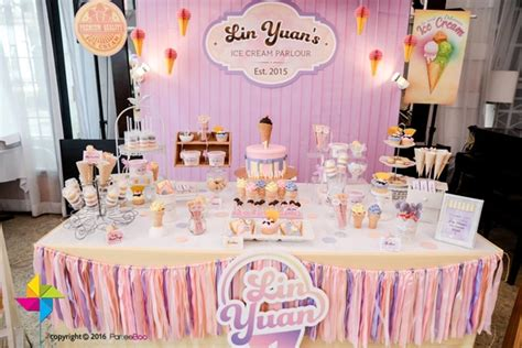 Ice Cream Parlor First  Ee  Birthday Ee   Party