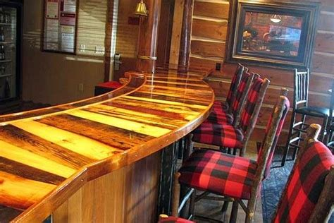 reclaimed wood bar top countertop hotel bar top reclaimed wood bar ideas pinterest