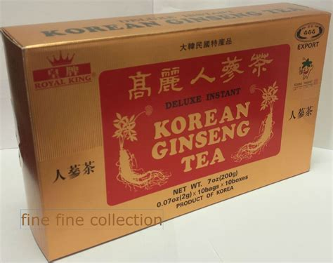 Korean Ginseng Tea royal king deluxe instant korean ginseng tea 100 bags 7