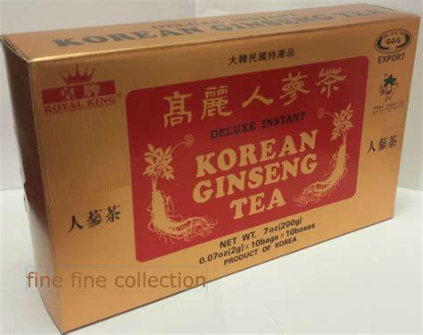 Korean Ginseng Tea royal king deluxe instant korean ginseng tea 100 bags 7 oz us seller fast ship ebay