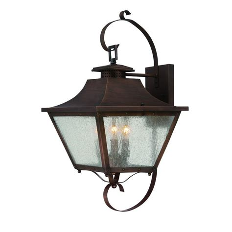 Copper Outdoor Light Fixtures Acclaim Lighting Lafayette Collection 3 Light Copper
