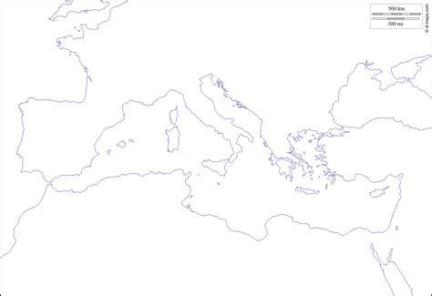 map of mediterranean sea blank map mediterranean region