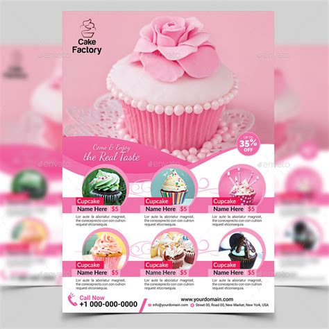 cupcake flyer templates free cupcake flyer template by aam360 graphicriver