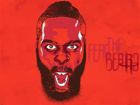 fear  beard james harden nba houston star wall