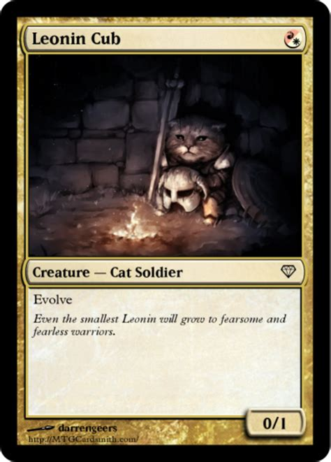 Magic The Gathering Memes - leonin cub magic the gathering know your meme