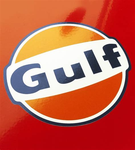 gulf car logo gulf vintage logo sticker by car bone flatsix design