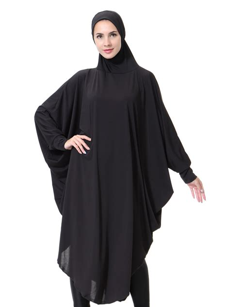 modest khimar jilbab overhead prayer muslim islam with sleeves ebay