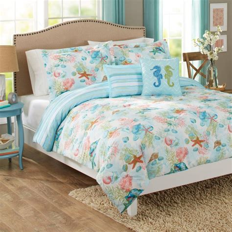 beach style comforter sets coastal style beach decor from walmart beach themes