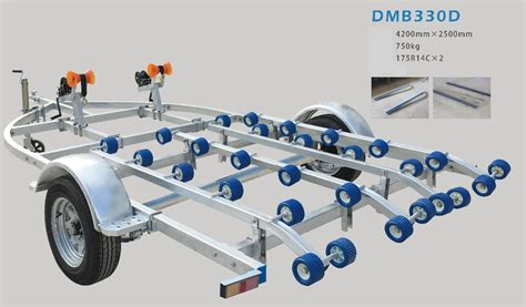 boat trailer double rollers double axle 14 roller braked boat trailer for double row
