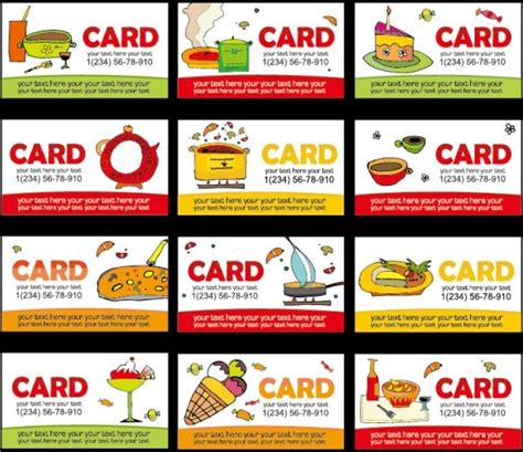 Diet Card Template by Diet Class Lovely Card Template Vector Free Vector In