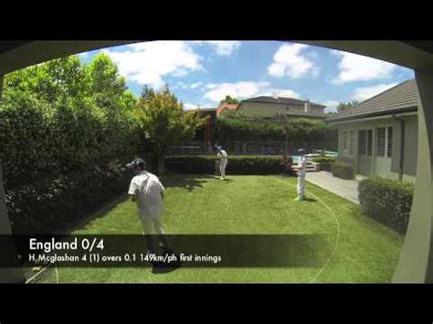 the backyard ashes the backyard ashes first test youtube