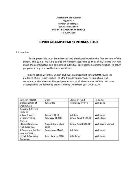 Accomplishment Report Template Word Accomplishments Report Template Monthly Carbon