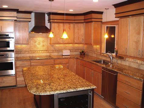 oak cabinets with granite oak kitchen cabinets with granite countertops