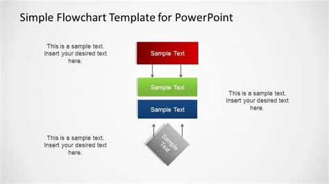 Simple Flowchart Template For Powerpoint Slidemodel Powerpoint Flow Chart Template