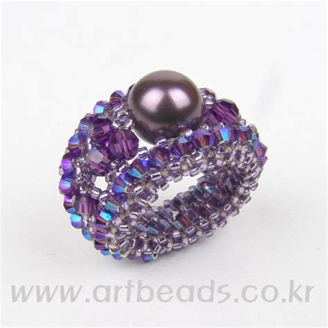 beaded rings free patterns tutorials diy art beads free tutorial complicated diagram