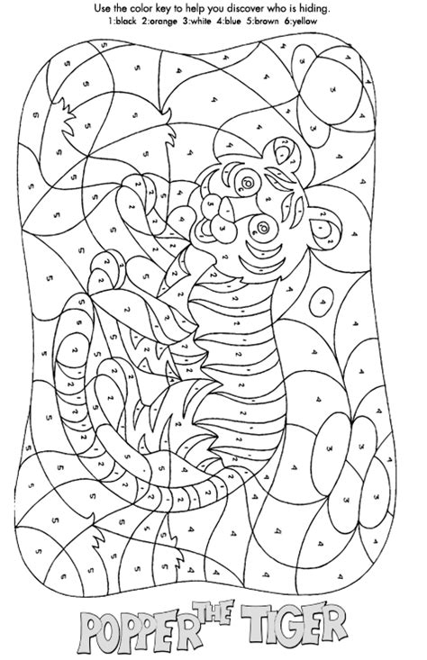 free coloring pages of paint by numbers
