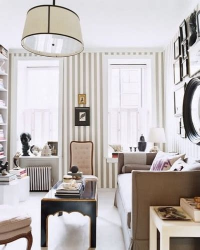 Striped Living Room Wallpaper by Striped Walls 10 Beautiful Rooms With Stripes Megan Morris