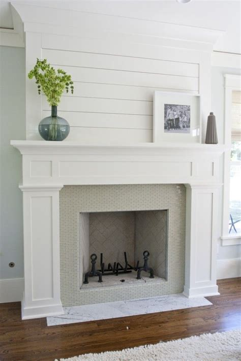 White Wood Fireplace Mantel by Where To Use Shiplap Mathis Interiors