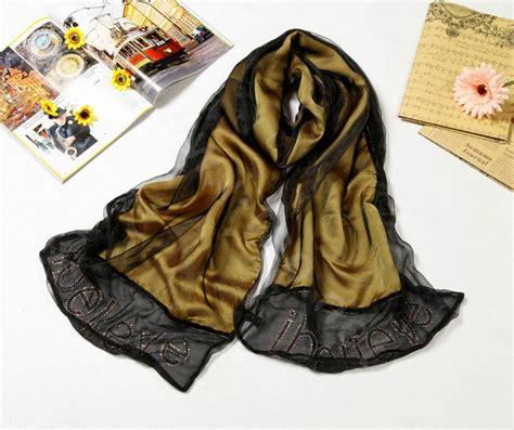 buy wholesale high end fashion 100 silk scarf shawl