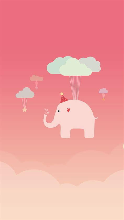wallpaper iphone lucu tumblr 粉红色的飞天大象可爱手机桌面下载 卡通手机壁纸图片 3g壁纸大全