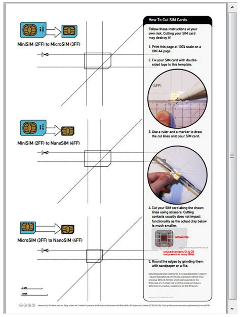 Template To Cut Sim Card For Iphone 5