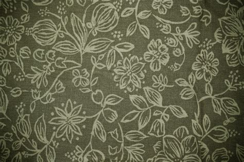 pattern clothes texture olive green fabric with floral pattern texture picture