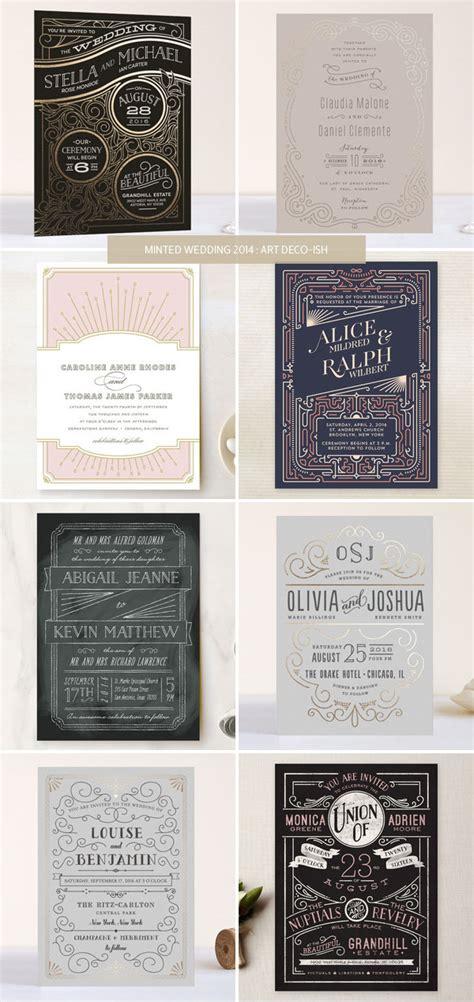 deco wedding invitations minted wedding invitations 2014 deco ish invitation crush