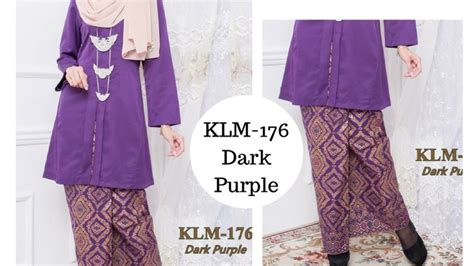 Baju Rossa Songket baju kebaya kurung kebarung kebarong songket terkini purple ungu gelap klm 176