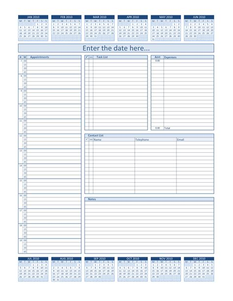 daily planner template in excel daily project organizer templates free daily planner for