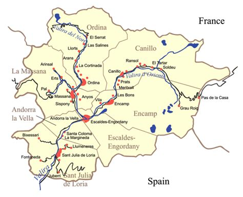 andorra on europe map map of andorra political map worldofmaps net