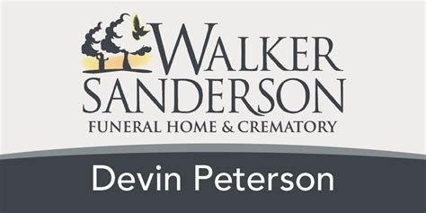 walker sanderson funeral home name badge graphics